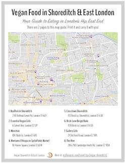 london vegan map