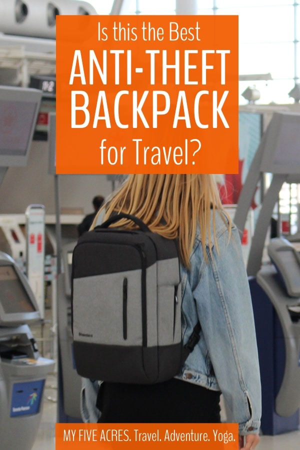 Looking for the best anti-theft backpack for travel (and daily life)? We have put the Standard Luggage Daily daypack to the test, on planes, trains, busses, bikes, beaches and more! Here's what we think of this theft proof backpack. #travel #backpack #antitheft