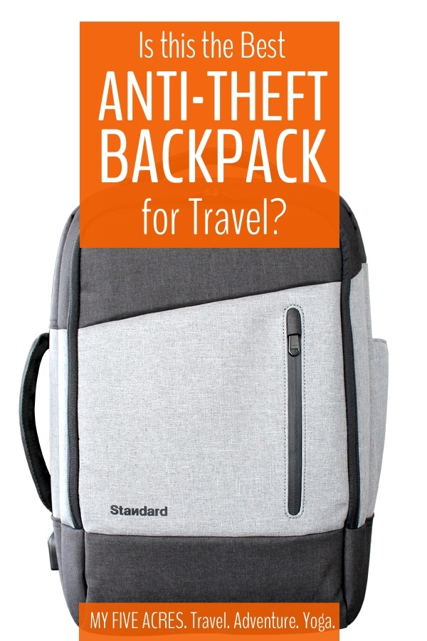 Looking for the best anti-theft backpack for travel (and daily life)? We have put the Standard Luggage Daily daypack to the test, on planes, trains, busses, bikes, beaches and more! Here's what we think of this theft proof backpack. #antitheft #travel #backpack