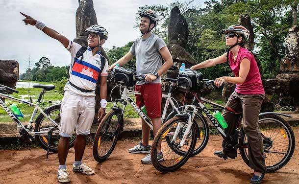cambodia bike tour angkor temples