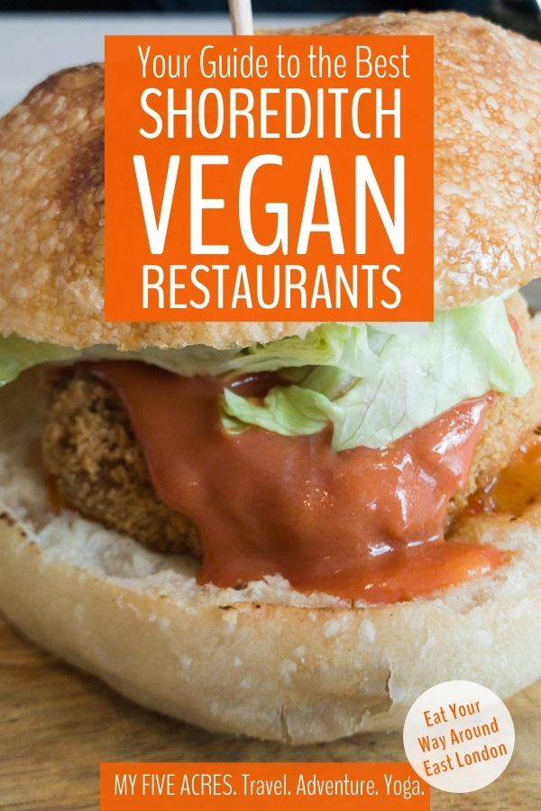 If you're looking for the best food vegan Shoreditch has to offer, this is your complete guide! We did the hard work of eating our way around Shoreditch — and the rest of East London — just for you! So, if you're hungry in Shoreditch, get ready for a feast. Don't forget to grab your printable map and guide, too. #vegan #london #shoreditch