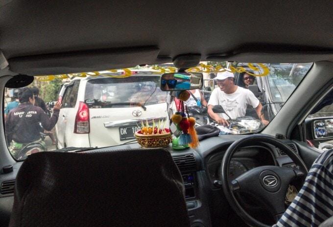 traffic jam on nusa penida