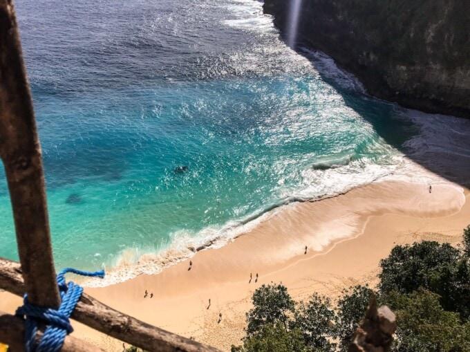 Kelingking beach from above