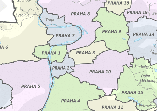 prague district map
