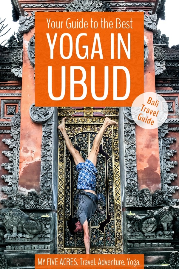 Looking for the best yoga in Ubud, Bali? Ubud attracts yogis from around the globe and the local yoga market is saturated with yoga studios, retreats, resorts, and more. We help you find the best yoga in Ubud for your style and level of practice. #travel #ubud #bali #yoga