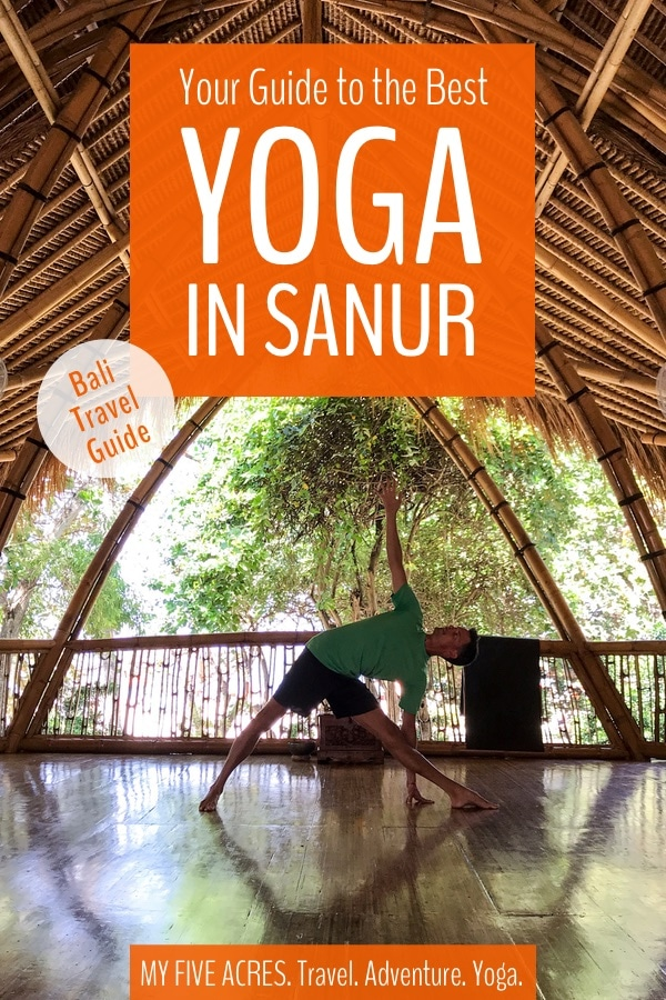 "Though the Sanur yoga scene isn't quite up to Ubud levels, it is growing. This beach holiday destination is perfect if you want to combine family fun with a little ""me"" time. Check out our guide to find the studios and resorts with yoga in Sanur. #bali #travel #yoga"