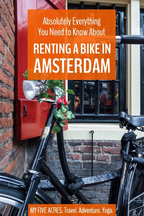 Cycling in Amsterdam is exciting, fun, and by far the best way to get around. However, before renting a bike in Amsterdam, there are lots of things you should know! Read on for all the Amsterdam bike rental info you need to know! #amsterdam #bikes #bicycles