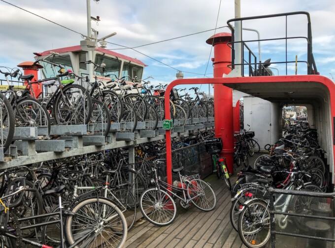 bike parking lot in amsterdam