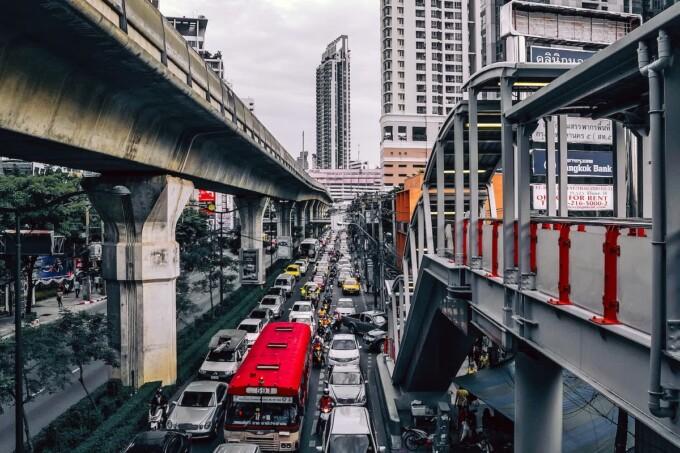 2 days in bangkok traffic