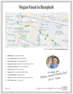bangkok vegan map