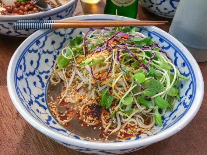 Bangkok vegan hand pulled noodles