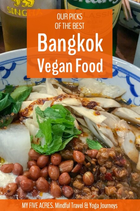 This post will help you find the best Bangkok vegan food! We recommend our favourite vegan restaurants in Bangkok and also share our tips for making your own animal-friendly discoveries. Enjoy! #vegan #bangkok #travel