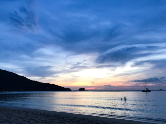 cycle touring thailand sunset