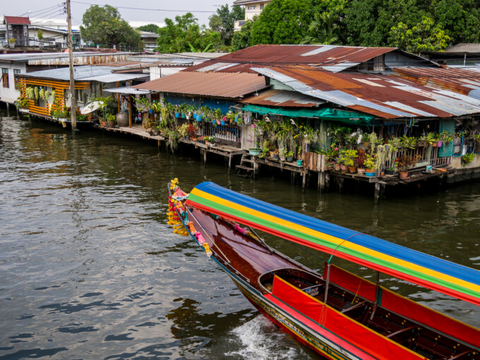 bangkok bike tour canal boat & houses