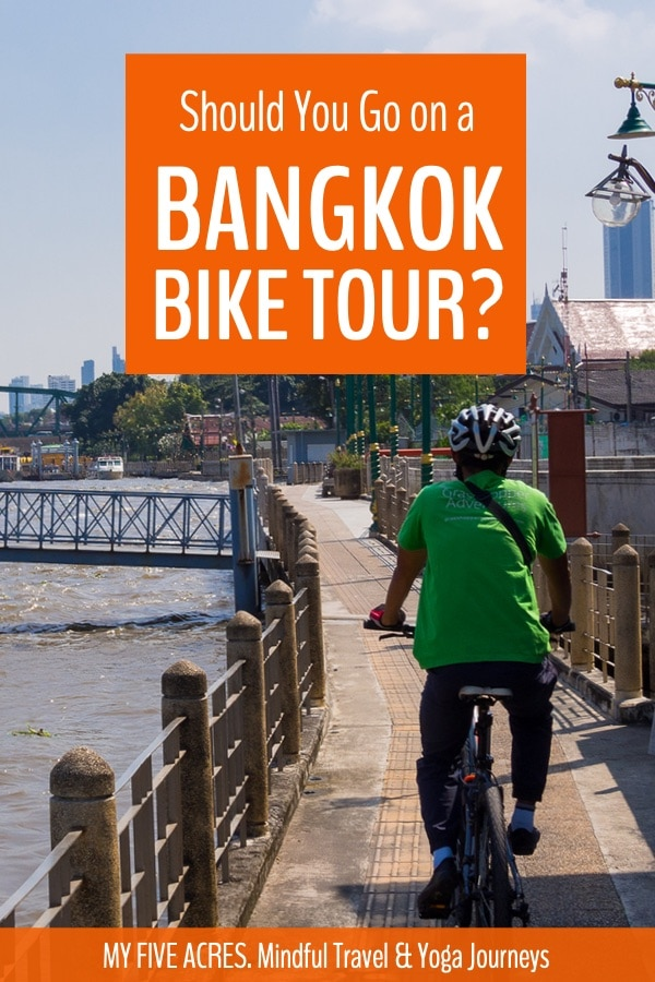 Find out if a Bangkok bike tour is right for you. We explored Bangkok on a full-day canal boat and bike tour and absolutely loved it. There's no doubt cycling is a great way to see Bangkok. But is it right for you? Click to find out.