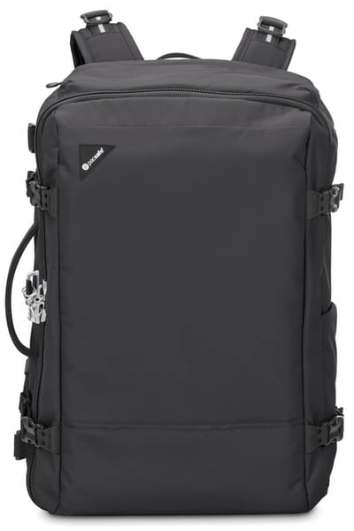 black pacsafe vibe secure minimalist backpack