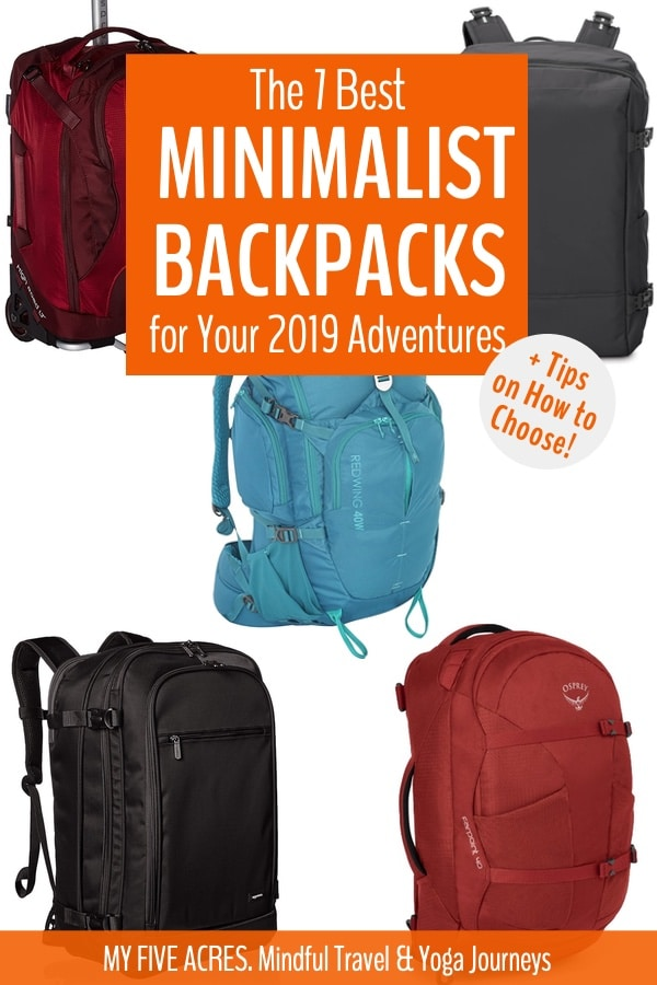 Find the best minimalist backpack for your adventures. Hauling a heavy suitcase when you travel is a huge drag. This post will teach you how to find the ideal luggage for your trip, plus, we share our favourite travel backpacks. #travel #backpack #suitcase #minimalism #myfiveacres #mindfultravel