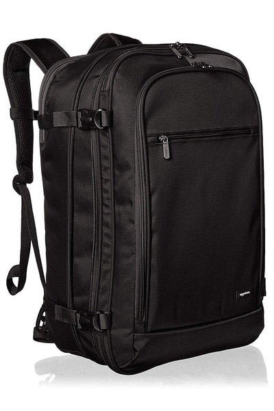 black amazonbasics carryon travel bag