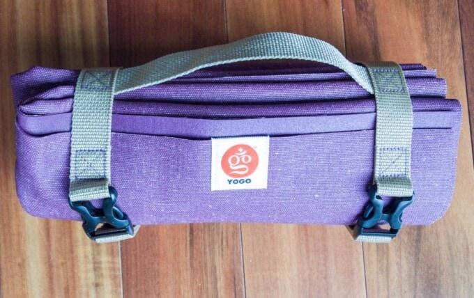 purple foldable yogo mat