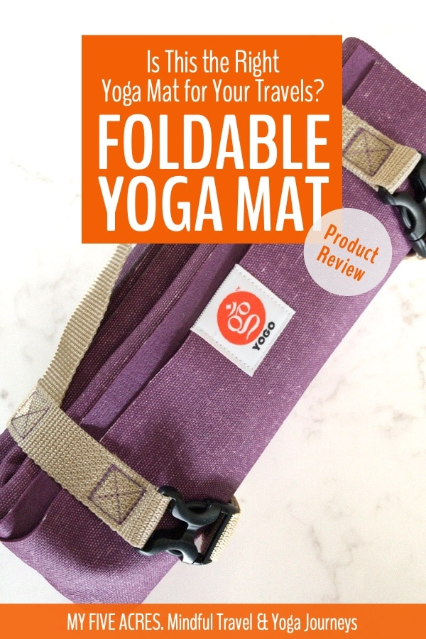 YOGO foldable yoga mat folds to the size of a newspaper