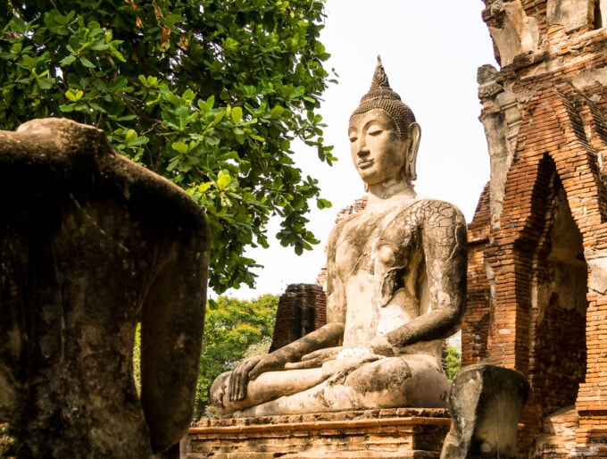 buddha statue Ayutthaya temples