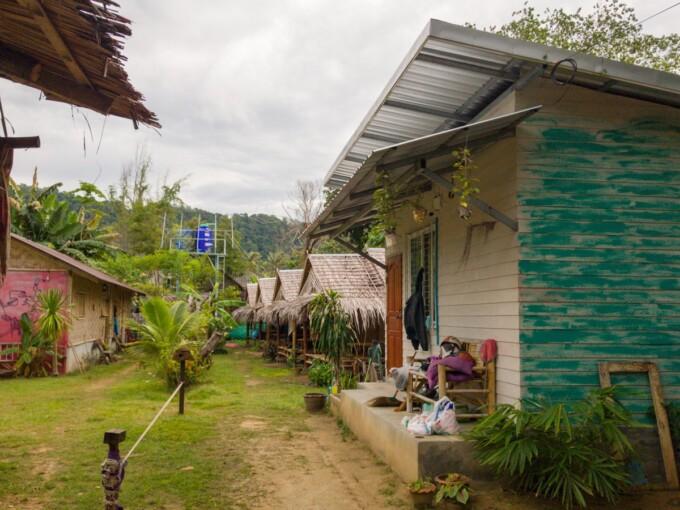 bamboo shacks in koh lanta