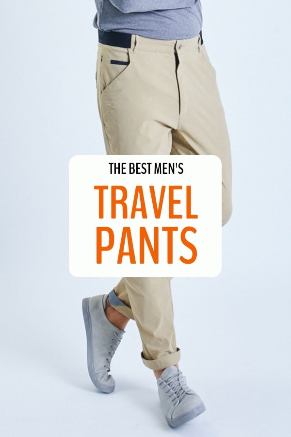 Need to find the ultimate men's travel pants? This post will help you learn what to look for and we pick our favourite travel pants after 6 years of full-time travel. #travel #travelclothes #mens #pants #myfiveacres #mindfultravel