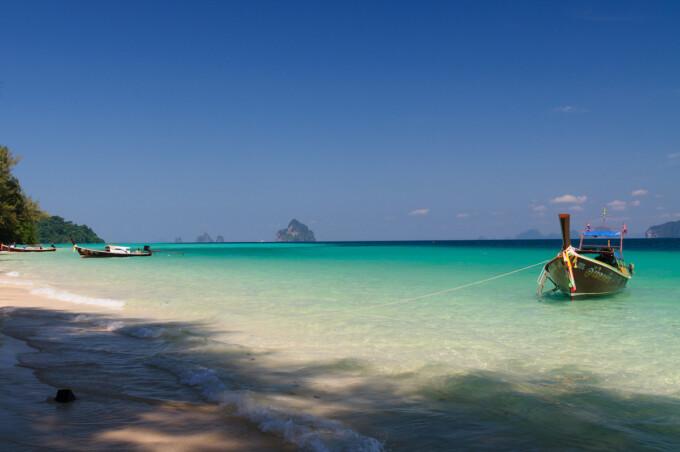 boat in water koh kradan island thailand