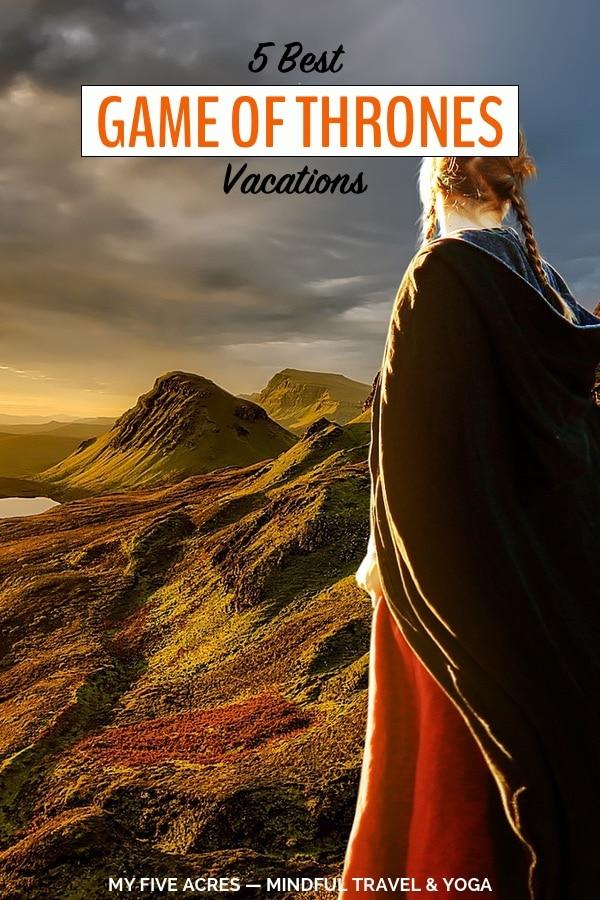 woman in cloak in front of irish landscape