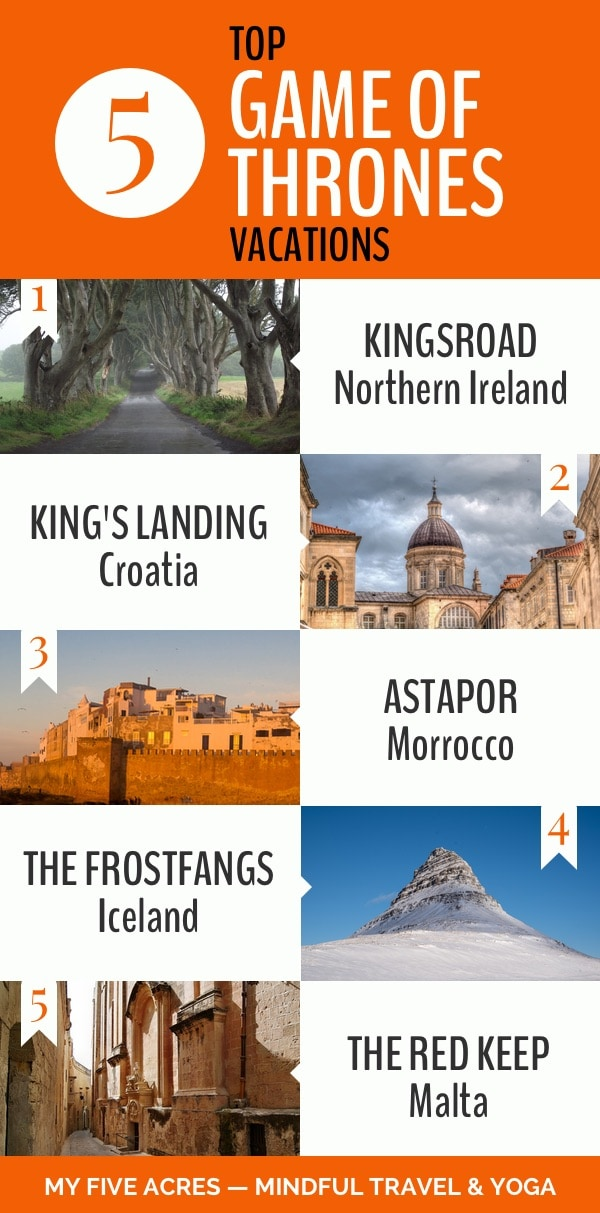 game of thrones top 5 vacation destination infographic