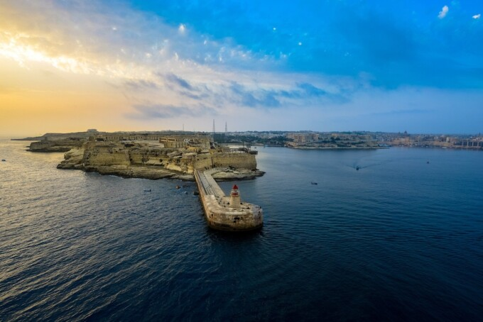 medieval walled city in malta