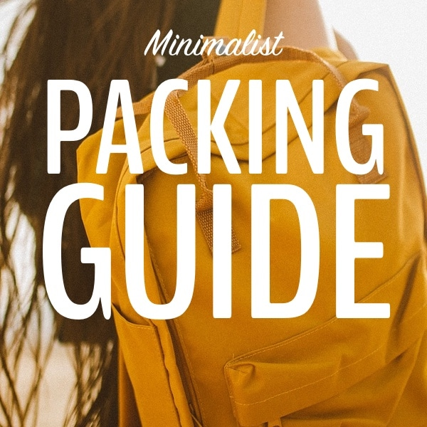 minimalist packing guide button