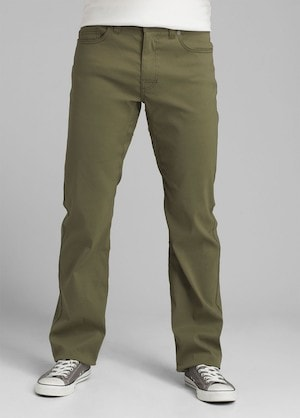 prana brion pants in dark green