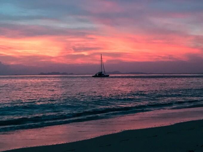 sunset in koh lanta thailand