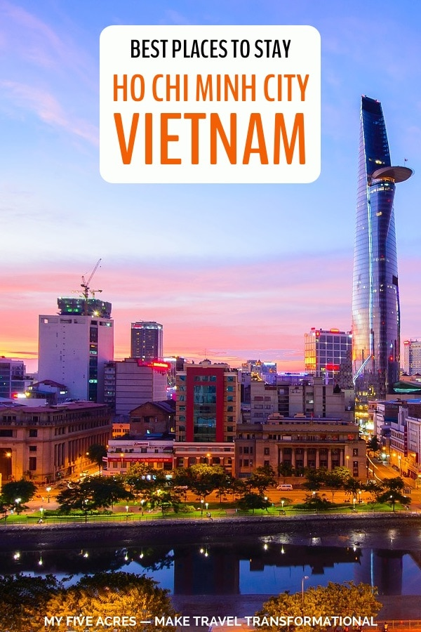 pinterest image for where to stay in ho chi minh city vietnam