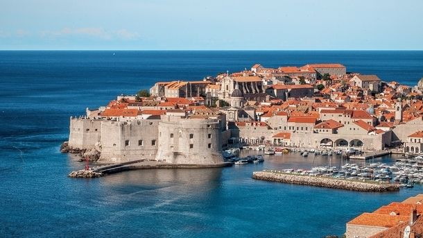 dubrovnik old city from a distance