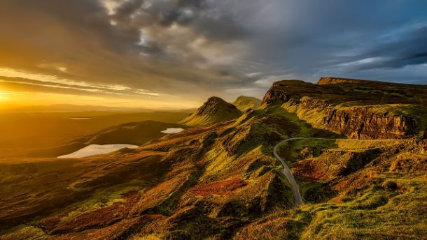 scotland mountains at sunset