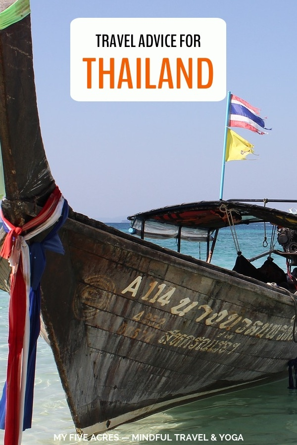 Discover everything you need to know if you're going to Thailand. Find the best places to go, cost of travel, where to eat, practical info about visas, what to pack and more. Read before you go to Thailand! #thailand #travel #adventure #traveltips #myfiveacres #mindfultravel