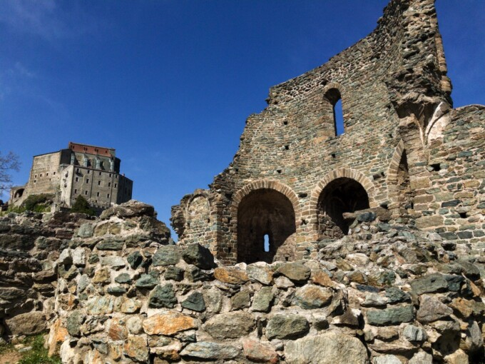 medieval ruins in piemonte italy