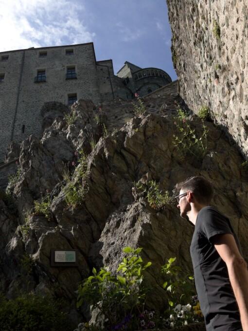 rock foundation of sacra di san michele