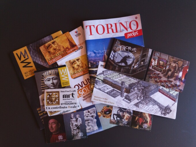 turin tickets and pamphlets