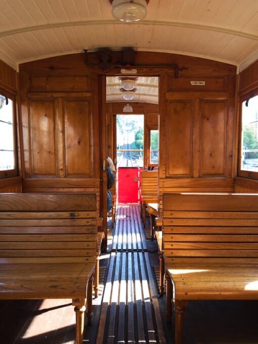 wooden tram car superga