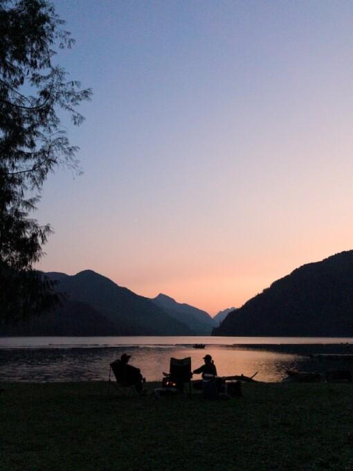 sunset over muchalat lake