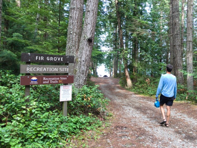 forestry campground on Vancouver Island