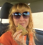 author kris rothstein eating vegan treats