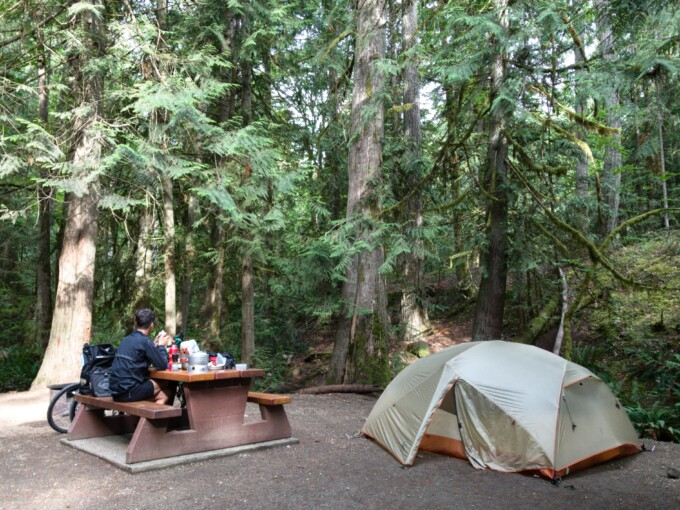 provincial campground on Vancouver Island