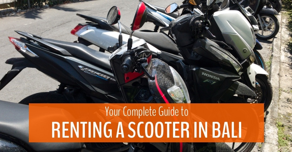 your complete guide to renting a scooter in bali