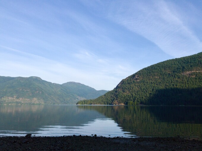 view of sechelt inlet and rolling hills
