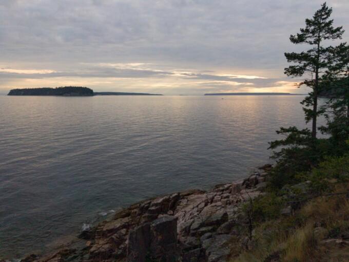 sunset over islands on the sunshine coast