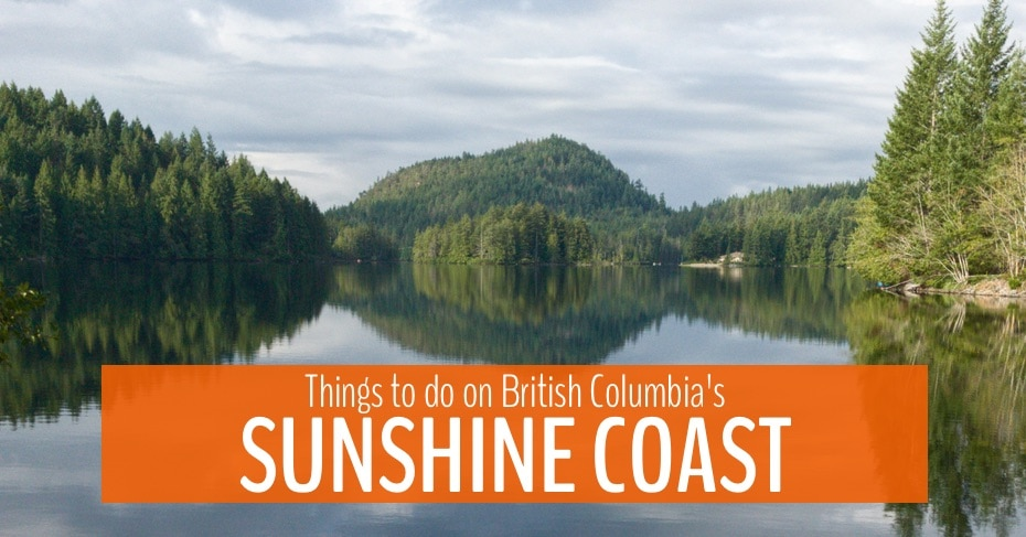 lead blog image for things to do on sunshine coast bc